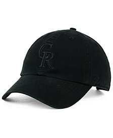 '47 Brand Colorado Rockies Black on Black CLEAN UP Cap