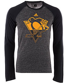 adidas Men's Pittsburgh Penguins Large Logo Fade Long Sleeve T-Shirt