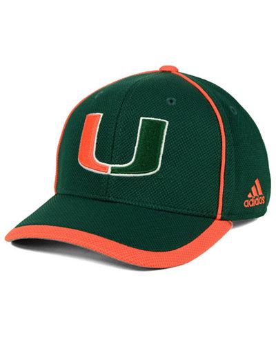 adidas Miami Hurricanes Piping Hot Adjustable Cap