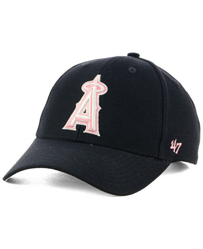 '47 Brand Los Angeles Angels Navy Pink MVP Cap