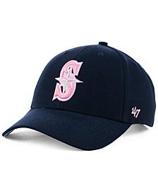 '47 Brand Seattle Mariners Navy Pink MVP Cap
