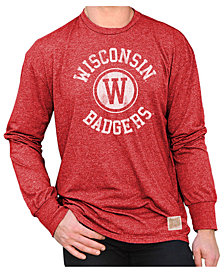 Retro Brand Men's Wisconsin Badgers Mock Twist Long Sleeve T-Shirt