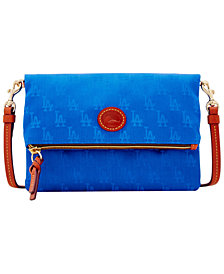 Dooney & Bourke Los Angeles Dodgers Embossed Nylon Foldover Crossbody
