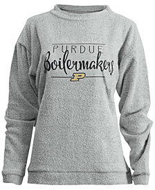Royce Apparel Inc Women's Purdue Boilermakers Comfy Terry Pullover
