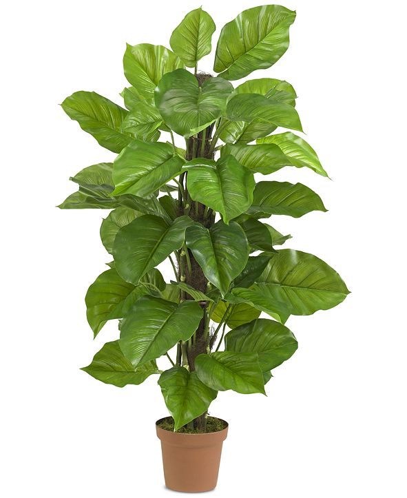"Nearly Natural 52"" Large Leaf Philodendron Real Touch Plant"