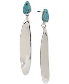 Robert Lee Morris Soho Silver-Tone Stone & Stick Linear Drop Earrings
