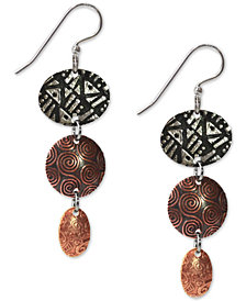 Jody Coyote Handcrafted Multi-Metal Drop Earrings