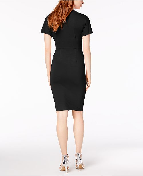 Macy's Sleeve Twist Bar Dress Front III Flutter Created for Black Deep rIO7O8q