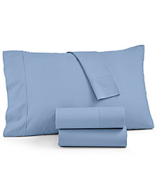 AQ Textiles York NuPercale 4-Pc Queen Sheet Set, 600 Thread Count Created for Macy's