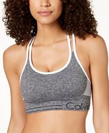 Calvin Klein Performance Strappy-Back Low-Impact Sports Bra