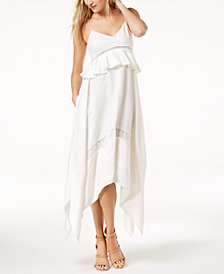 Rachel Zoe Ruffled Handkerchief-Hem Dress