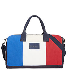 Tommy Hilfiger Logo-Print Weekender Bag, Created for Macy's