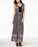 Style & Co Crocheted Maxi Dress Created for Macys