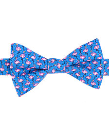 Tommy Hilfiger Men's Printed Flamingo To-Tie Silk Bow Tie
