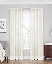 Hudson Hill Ripples Embroidered Sheer Rod Pocket Window Panels