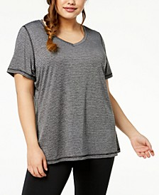 Plus Size Striped T-Shirt, Created for Macy's