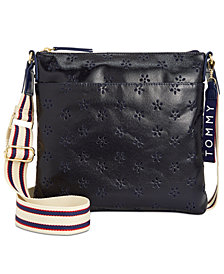 Tommy Hilfiger Perforated Canvas Small Crossbody