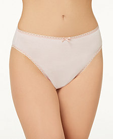 Charter Club Pretty Cotton Hi Cut Bikini, Created for Macy's