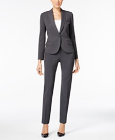 Anne Klein One-Button Blazer & Skinny Pants