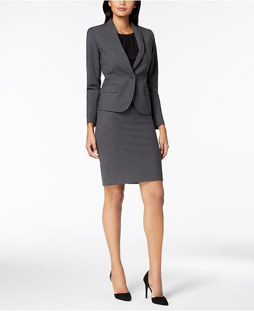 Anne Klein Executive Collection 3-Pc. Pants & Skirt Suit Set, Created for Macy's