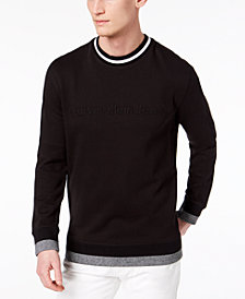 Calvin Klein Jeans Men's Striped-Trim Sweatshirt