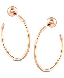 GUESS Gold-Tone C-Shape Hoop Earrings