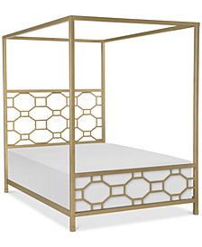 Rachael Ray Chelsea Kids Metal Canopy Full Bed