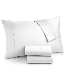 AQ Textiles Surrey 4-Pc. Queen Sheet Set, 650 Thread Count 100% Cotton Sateen