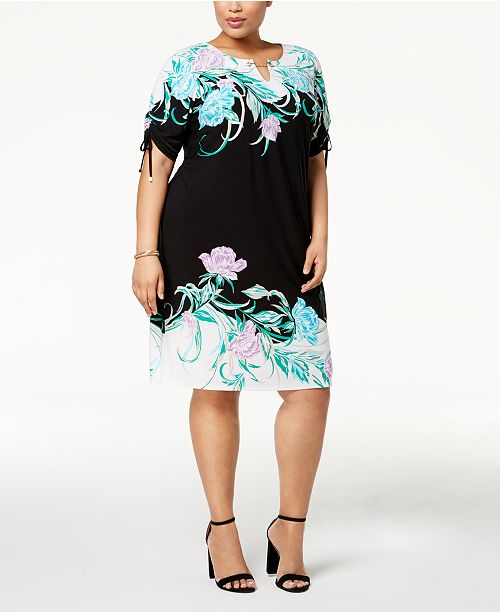 JM Collection Plus Size Embellished Dress, Created for Macy\'s