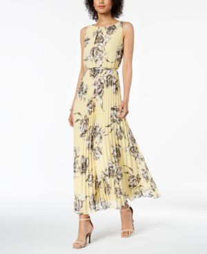 Jessica Howard Petite Belted Pleated Maxi Dress 5882607