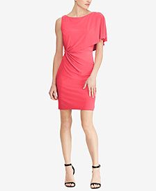 American Living Shoulder-Overlay Sheath Dress