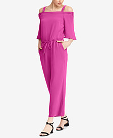 Lauren Ralph Lauren Crepe Cold-Shoulder Jumpsuit