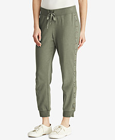 Lauren Ralph Lauren Lace-Up Jogger Pants