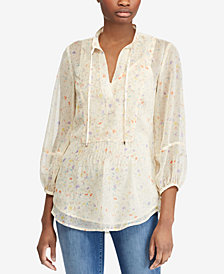 Lauren Ralph Lauren Printed Top, Created for Macy's