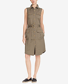 Lauren Ralph Lauren Stretch Twill Utility Dress