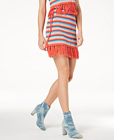 Moon River Fringe-Trim Mini Skirt
