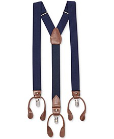 Men's Herringbone Convertible Suspenders, Created for Macy's