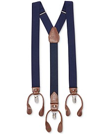 Club Room Men's Herringbone Convertible Suspenders, Created for Macy's