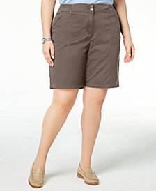 Karen Scott Plus Size Shorts, Created for Macy's
