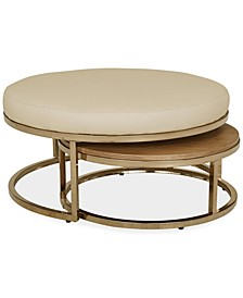 Jennova Upholstered Round Nesting Coffee Table, Created for Macy's