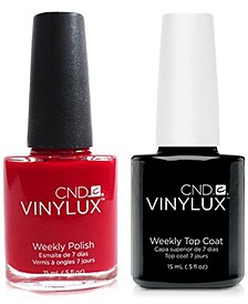 Creative Nail Design Vinylux Rouge Red Nail Polish & Top Coat (Two Items), 0.5-oz., from PUREBEAUTY Salon & Spa