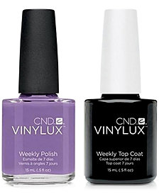 Creative Nail Design Vinylux Lilac Longing Nail Polish & Top Coat (Two Items), 0.5-oz., from PUREBEAUTY Salon & Spa