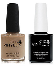 Creative Nail Design Vinylux Powder My Nose Nail Polish & Top Coat (Two Items), 0.5-oz., from PUREBEAUTY Salon & Spa