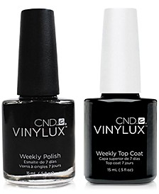 Creative Nail Design Vinylux Black Pool Nail Polish & Top Coat (Two Items), 0.5-oz., from PUREBEAUTY Salon & Spa