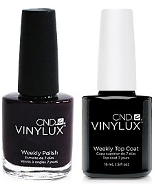 Creative Nail Design Vinylux Plum Paisley Nail Polish & Top Coat (Two Items), 0.5-oz., from PUREBEAUTY Salon & Spa