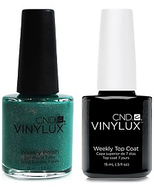 Creative Nail Design Vinylux Art Basil Nail Polish & Top Coat (Two Items), 0.5-oz., from PUREBEAUTY Salon & Spa