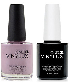 Creative Nail Design Vinylux Lavender Lace Nail Polish & Top Coat (Two Items), 0.5-oz., from PUREBEAUTY Salon & Spa