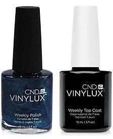 Creative Nail Design Vinylux Peacock Plum Nail Polish & Top Coat (Two Items), 0.5-oz., from PUREBEAUTY Salon & Spa