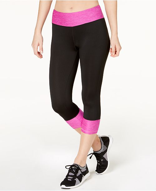 d1131ec752a3f5 Ideology Rapidry Colorblocked Capri Leggings, Created for Macy's ...