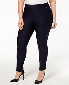 Calvin Klein Plus Size Skinny Leg Pull-On Pants